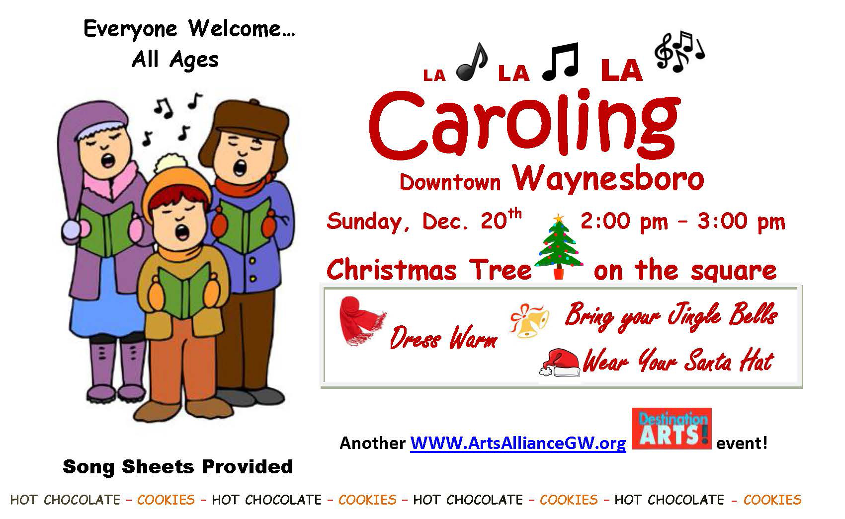 Caroling in downtown Waynesboro